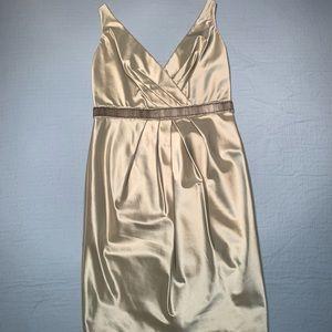 Beaded waist Carmen Marc Valvo dress